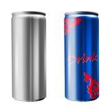 Lata de soda magro Imagens de Stock