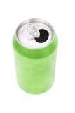 Lata de soda verde Foto de Stock