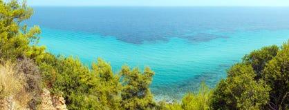 Lata denny wybrzeże Halkidiki, Grecja Obraz Stock