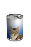 Lata do alimento de gato Imagens de Stock Royalty Free
