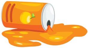 Lata do sumo de laranja Imagem de Stock Royalty Free