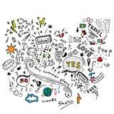 Lata doodle nakreślenia wektor Obrazy Royalty Free