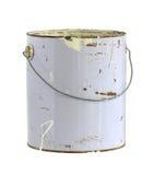 Lata dourada da pintura Fotografia de Stock