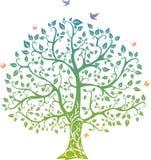 lata drzewo ilustracja wektor