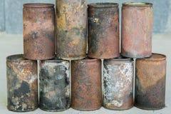 Lata e oxidação velhas fotos de stock