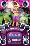 Lata Fest ulotki purpury zdjęcie stock