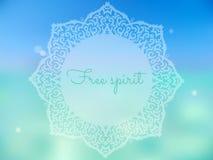 Lata joga plakat Zdjęcia Royalty Free