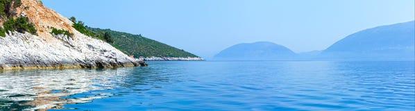 Lata Kefalonia wybrzeża panorama (Grecja) Zdjęcie Royalty Free