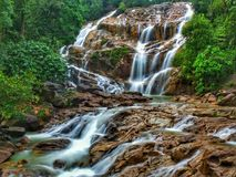 Lata Kinjang瀑布, Tapah 图库摄影