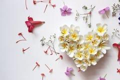 Lata kwiecisty serce z kwiatami Obraz Royalty Free