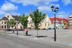Lata miasta krajobraz na zwycięstwo kwadracie w mieście Gvardeysk Zdjęcie Royalty Free
