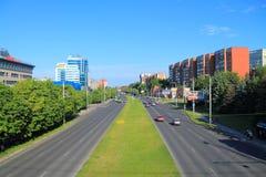 Lata miasta krajobraz w Kaliningrad Obrazy Stock