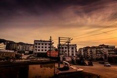 Lata miasteczka wejście Zdjęcie Stock