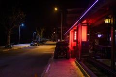 Lata miasteczko Dalej Przy nocą Zdjęcia Royalty Free