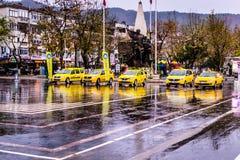 Lata miasteczko Na deszczowym dniu Obraz Stock