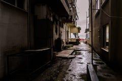 Lata miasteczko W deszczu Zdjęcia Stock