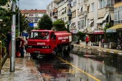 Lata miasteczko W Turcja Po Ciężkiego opady deszczu Zdjęcia Royalty Free