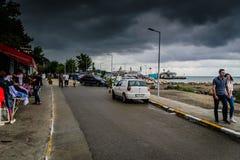 Lata miasteczko W Turcja Po Ciężkiego opady deszczu Fotografia Stock