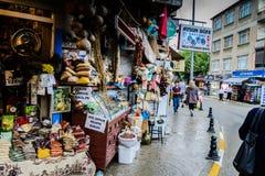 Lata miasteczko W Turcja Po Ciężkiego opady deszczu Zdjęcia Stock