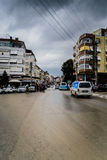 Lata miasteczko W Turcja Po Ciężkiego opady deszczu Obraz Royalty Free