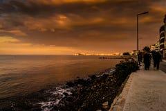 Lata miasteczko W Turcja Z Dziwaczną pogodą Zdjęcia Stock