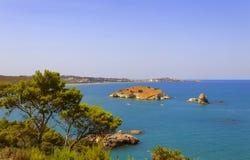 Lata morze Gargano wybrzeże: zatoka Vieste - (Apulia) WŁOCHY Zdjęcie Royalty Free