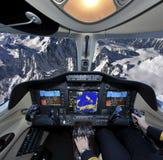 Latać nad Alp Zdjęcie Royalty Free
