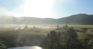 Latać nad jeziorem zdjęcie wideo