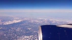 Lata? nad P??nocna Ameryka podczas zima sezonu Krajobraz od okno samolot zdjęcie wideo