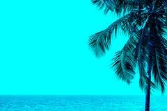 Lata niebo na plaży Fotografia Stock