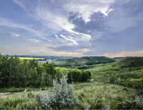 Lata niebo nad Alberta pogórzami Zdjęcie Royalty Free