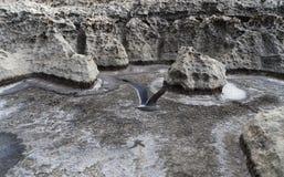 Latać: Osobliwy powulkaniczny widok w Malta Zdjęcie Stock