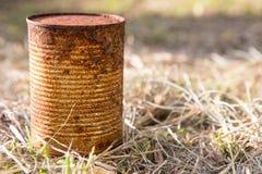 Lata oxidada do aço fotografia de stock royalty free