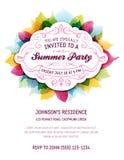 Lata Partyjny zaproszenie Zdjęcia Royalty Free