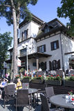 Lata patia restauracja SLAVJANSKY Fotografia Royalty Free