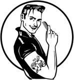 Lata pięćdziesiąte Greaser royalty ilustracja