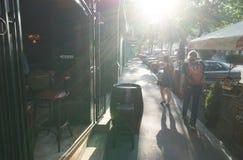 Lata piwa bar w Belgrade Zdjęcia Stock