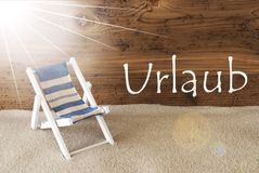 Lata Pogodny kartka z pozdrowieniami, Urlaub Znaczy wakacje Zdjęcia Royalty Free