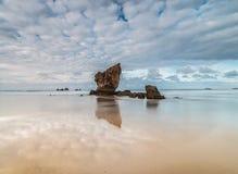 Lata popołudnie przy Aguilar plażą! Obraz Royalty Free