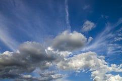 Lata popołudnia cloudscape Obrazy Royalty Free