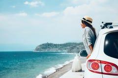 Lata roadtrip plaża Obrazy Royalty Free