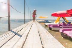 Lata rozmyty tło, rozrywka, catamarans fotografia stock