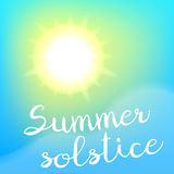Lata solstice plakat ilustracja wektor