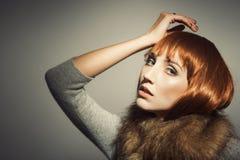 Lata sześćdziesiąte ery mody spojrzenie Fotografia Royalty Free
