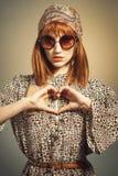 Lata sześćdziesiąte mody Retro krótkopęd Zdjęcie Stock