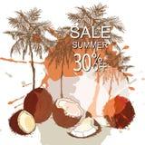 Lata tła tropikalna sprzedaż ilustracji