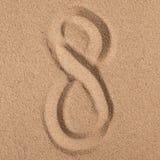 Lata tło Lat akcesoria, lata pojęcie Rozgwiazda z piaskiem jako tło Obrazy Royalty Free