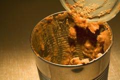 Lata vazia de feijões refried com backlighting Imagens de Stock Royalty Free