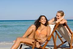 lata złagodzone plaży wakacyjne fotografia stock