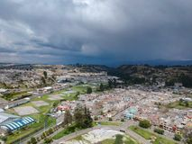 Latacunga άποψης Areial στοκ εικόνες με δικαίωμα ελεύθερης χρήσης
